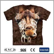 low price china trendy animal men 3d t-shirt printing