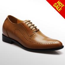 2014 elevator shoes/men leather footwear/2015 Men New Model Design Footwear