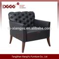 Novo estilo de madeira estofados poltrona lounge chair dg-sf0019