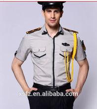 2015 última moda uniformes de seguridad, personalizar uniforme de guardia de seguridad
