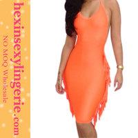 Whole midi 2014 online sexy fringe bandage dress