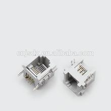 Top Entry single/muti-port Telephone Modular PCB Jack