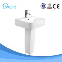 White porcelain indoor practical square wash basin price