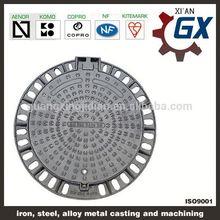 bituminous painted german epoxy coating ductile iron manhole cover
