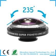 Hot Super fisheye lens for all phone circle clip 235 degree super fisheye lens for iphone samsung