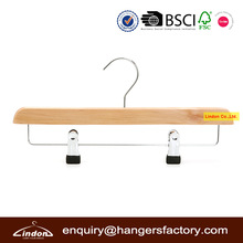 natural wood skirt clamp hanger with PVC-dipping clamp
