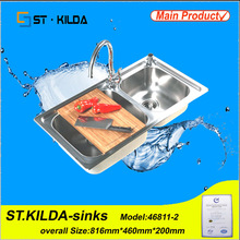 china manufacturer hand wash sink prices / double utility sinks /sink utility ZH46811QW