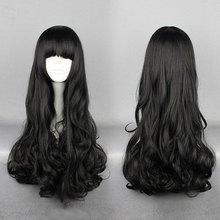 brand new Rwby Blake Belladonna Black 70cm Long Curly Cosplay High Temperature Fiber Wig