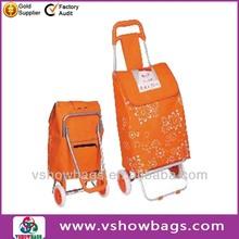Foldable 600D Shopping Trolley Bag