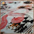 Custom digital print chiffon fabric in 100 silk material high quality for scarf