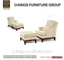 2015 new hotel custom-made single leather sofa chair