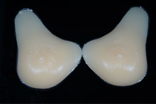 realistic artificial silicone breast, 100% safe and soft silicone, deep V shape, for the person who suffer from pectoralis major
