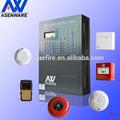 Sem fio gsm 1 laço 100 endereços alarme de incêndio endereçável sistemas de painel de controle