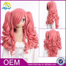 2015 Fashion Heat Resistance Kanekalon Pink Cute LOLITA Anime Cosplay Wig