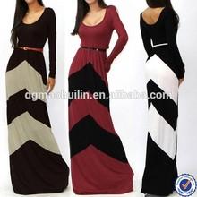 2015 new fashion summer autumn ladies long dress sexy belt stripe dress cheap china wholesale clothing