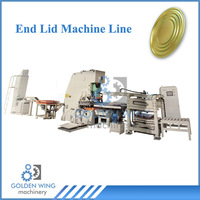 Automatic End Lid Making machine Line to produce 18 L 20 Liters Paint Bucket Tin Can Box Pail