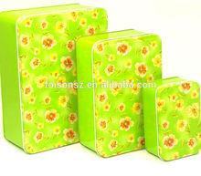 Popular promotional rectangular Cookie metal tin can packaging