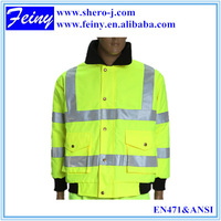 Traffic security EN471 reflective windbreaker jacket