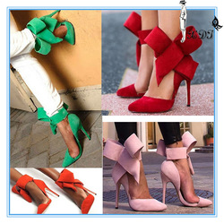 Top designer shoes bowtie pointed toe dress shoes! Women casual lady fashion shoes
