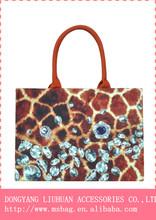 fashion shoulder bag 100% cotton Digital print handbag