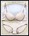 fábrica de población joven damas impreso del punto bikini bra conjunto de ropa interior