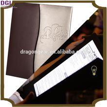 stylish menu cover / handmade leather case led perform