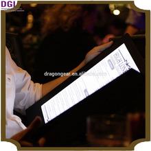 Customized Menu Covers restaurant menu holder / restaurant menu case / leather interview folder