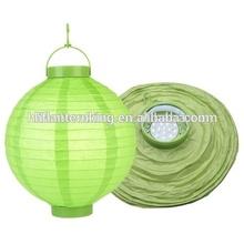 Light green thanksgiving decoration LED battery lantern