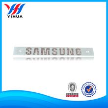 "0.5mm Thickness ""SAMSUNG"" Logo Metal Sticker With Transfer Film"