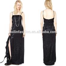 2014 hot sale sleeveless vest maxi dress Luxury Long Split Prom Dresses