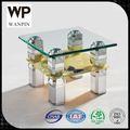 novo design moderno de vidro mesa de canto