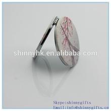 Fashion souvenir round mirrors/ Custom Pu mirror