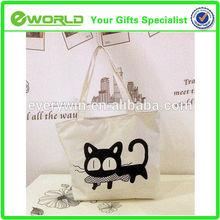 Art packing custom logo bag canvas tote bag