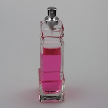 Hot sale tall unique shaped empty perfume spray glass bottle With aluminum for sale