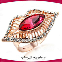 New Products Red Mouth Diamond 4 Gram Gold Ring