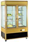 aluminum alloy vertical glass door cake showcase diaplay fridge