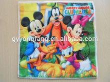 cartoon printed microfiber towels /handkerchief for kids hebei
