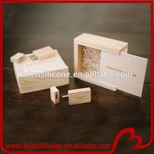 popular wedding gift wooden usb flash drive with box, custom natural woode usb memory stick, 1gb gift toshiba usb