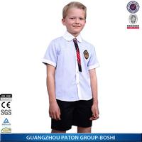 Private Boy' s Strip Kids School Uniform Shirt Of Wholesale School Supplies BS71109
