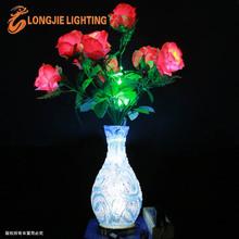36 led 0.6m simulation led lighted red rose vase /decorative flower lights