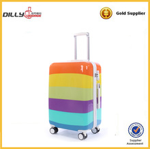 abs suitcase pc trolley luggage set four wheel suitcase