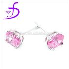 Wholesale single stone earring designs pure silver jewelry stud earrings
