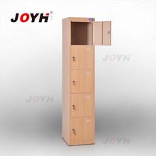 2014 new transprinted steel locker/wood color locker furniture/5 door steel locker