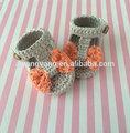 Aiyangyang handmade crocheted popular& bonito menina sandália 2014