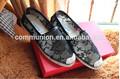 2014 venda quente do laço atacado de calçados de alta qualidade sapata plana para as mulheres lady'dress cunha sapatas