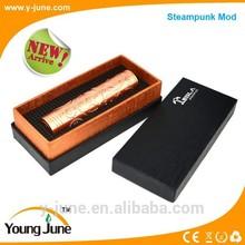New fashion design 26650 battery ecig mod the steampunk mod wholesale
