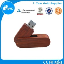Creative swivel wood usb flash memory OEM bulk cheap usb stick 1gb 2gb 4gb thumb drive