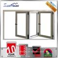Janela acordeão, folding janela da varanda, alumínio bi- janela de dobramento para venda