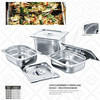 Buffet full size food grade stainless steel GN food pan/ food containers for restaurant