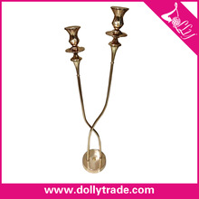 brass plated antique metal candlesticks for home decoration
